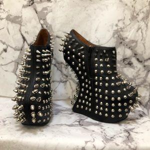 Jeffree Campbell fully studded platform heels
